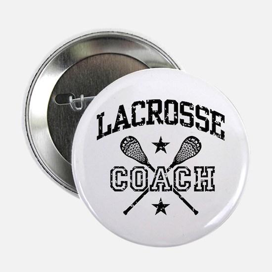 """Lacrosse Coach 2.25"""" Button"""
