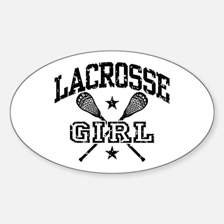 Lacrosse Girl Oval Decal