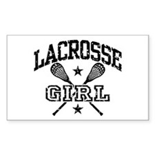 Lacrosse Girl Rectangle Decal