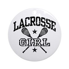Lacrosse Girl Ornament (Round)