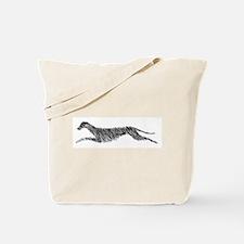 Leaping Scottish Deerhound Tote Bag