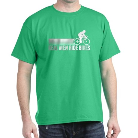 Real Men Ride Bikes Dark T-Shirt