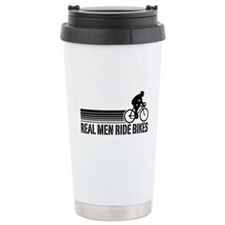 Real Men Ride Bikes Travel Mug
