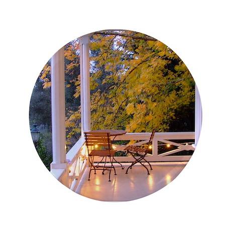 """Porch Overlooking Vineyards 3.5"""" Button"""