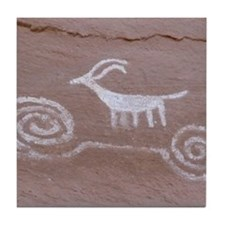 Anasazi Pictograph Tile Coaster
