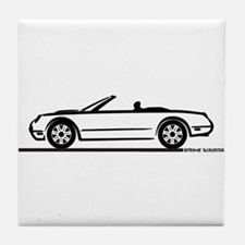 02 05 Ford Thunderbird Convertible Tile Coaster