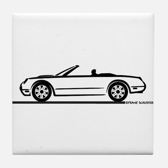 02 05 Ford Thunderbird Convertible Tile Coaster