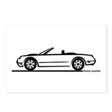 02 05 Ford Thunderbird Convertible Postcards (Pack
