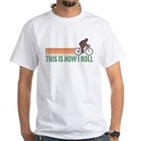 Cycling Mens White T-shirts