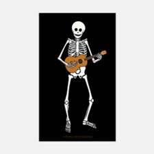 Ukulele Skeleton Rectangle Decal