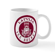 LV Latvia/Latvija Hockey Mug