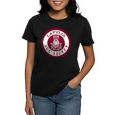 LV Latvia/Latvija Hockey Tee