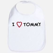 I Love Tommy Bib