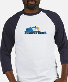 Buckroe Beach VA - Waves Design Baseball Jersey