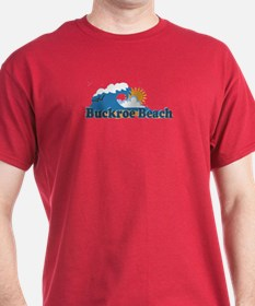 Buckroe Beach VA - Waves Design T-Shirt