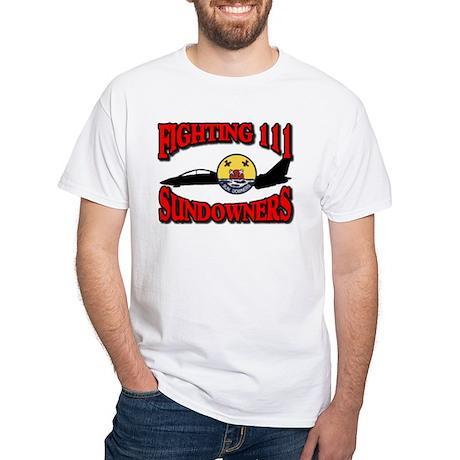 US NAVY VF-111 SUNDOWNERS White T-Shirt