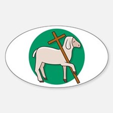 Lamb of God 2 Oval Decal