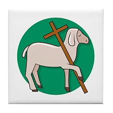 Lamb of God 2 Tile Coaster