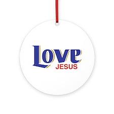 Love Jesus Ornament (Round)
