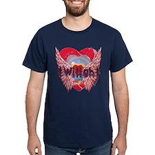 Twilight Mystic Crimson Heart Wings T-Shirt
