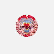 Twilight Mystic Crimson Heart Wings Mini Button