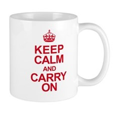 Keep Calm & Carry On in Red Mug
