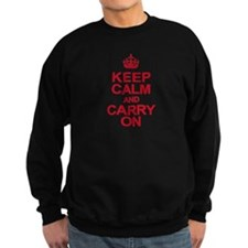 Keep Calm & Carry On in Red Sweatshirt