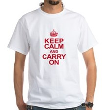 Keep Calm & Carry On in Red Shirt