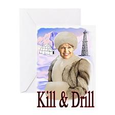 Kill Kill Kill Greeting Card