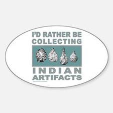 ARROWHEAD COLLECTOR Oval Decal
