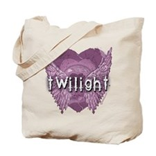 Twilight Violet Shadows Winged Crest Tote Bag