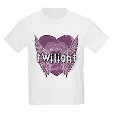 Twilight Violet Shadows Winged Crest T-Shirt