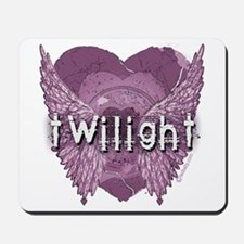 Twilight Violet Shadows Winged Crest Mousepad