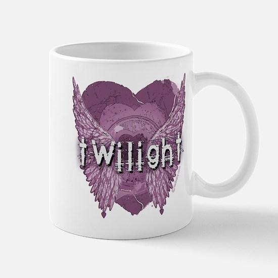 Twilight Violet Shadows Winged Crest Mug