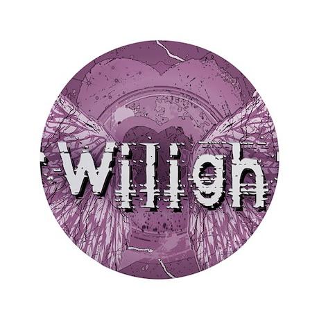 "Twilight Violet Shadows Winged Crest 3.5"" Button ("