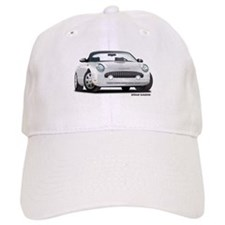 2002 05 Ford Thunderbird White Baseball Cap