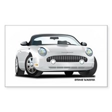 2002 05 Ford Thunderbird White Rectangle Decal