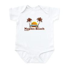 Naples Beach FL - Sun and Palm Trees Design Infant