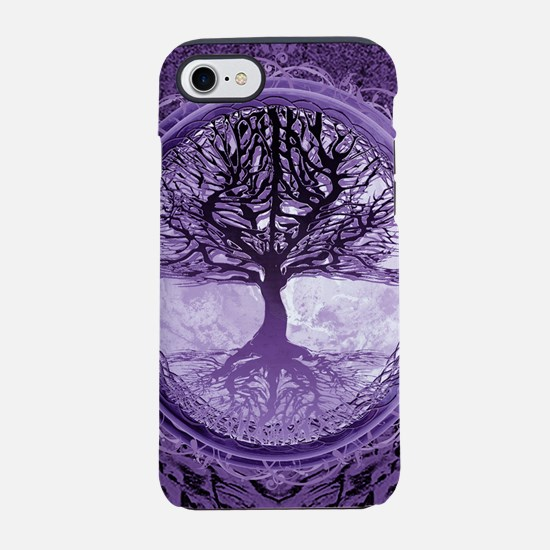 Tree of Life in Purple iPhone 7 Tough Case
