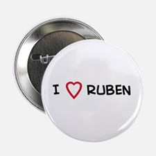 I Love RUBEN Button