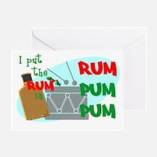 RUM pum pum Greeting Card