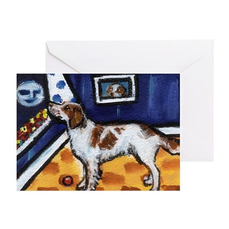 Irish Red & White Setter art Greeting Cards (Packa