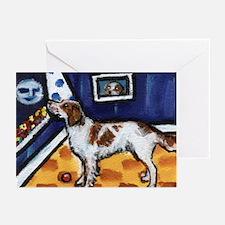 Irish Red & White Setter art Greeting Cards (Packa