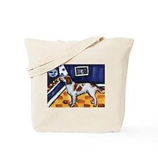 Irish Red & White Setter art Tote Bag