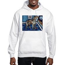 Deerhound whimsical art Hoodie