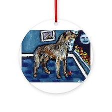 Deerhound whimsical art Ornament (Round)