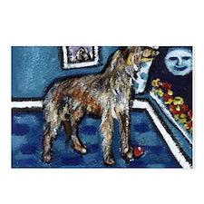 Deerhound whimsical art Postcards (Package of 8)