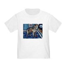Deerhound whimsical art T