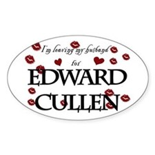 Leaving husband for Edward Oval Decal