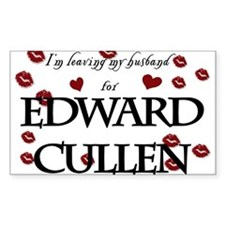 Leaving husband for Edward Rectangle Decal